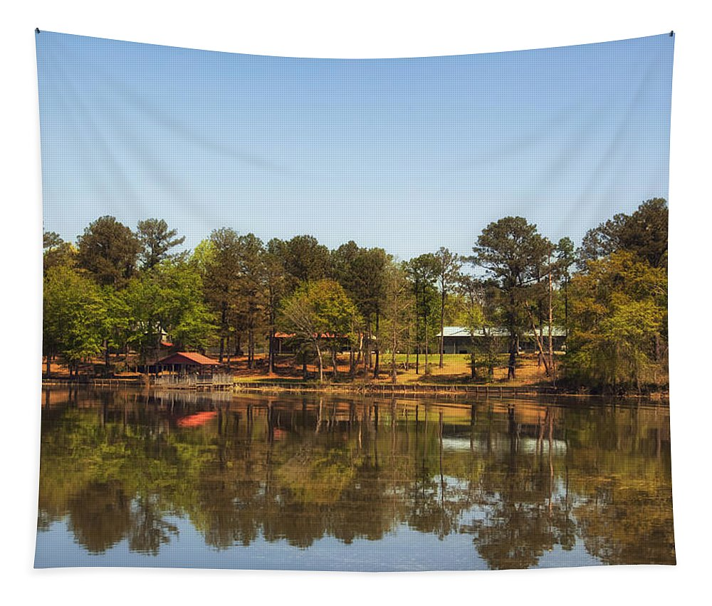 Gee's Bend Tapestry featuring the photograph Gee's Bend Alabama by Mountain Dreams