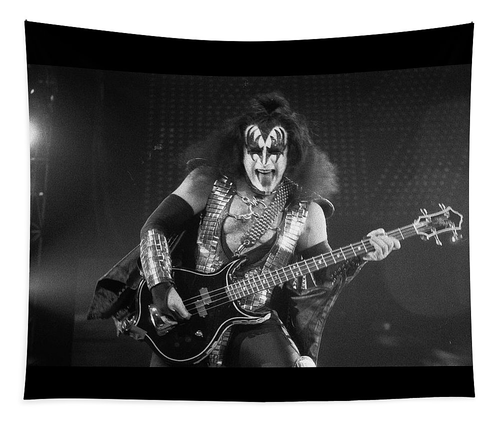 Gene Simmons Tapestry featuring the photograph Gene Simmons by Timothy Bischoff