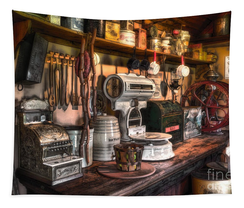 New Jersey Tapestry featuring the photograph General Store by Jerry Fornarotto