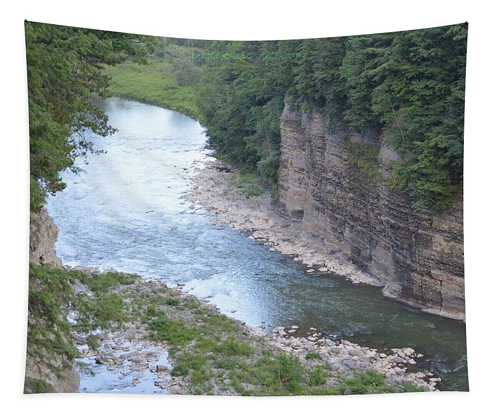 Travel Tapestry featuring the photograph Genesee River In Grand Canyon Of East by Sonali Gangane