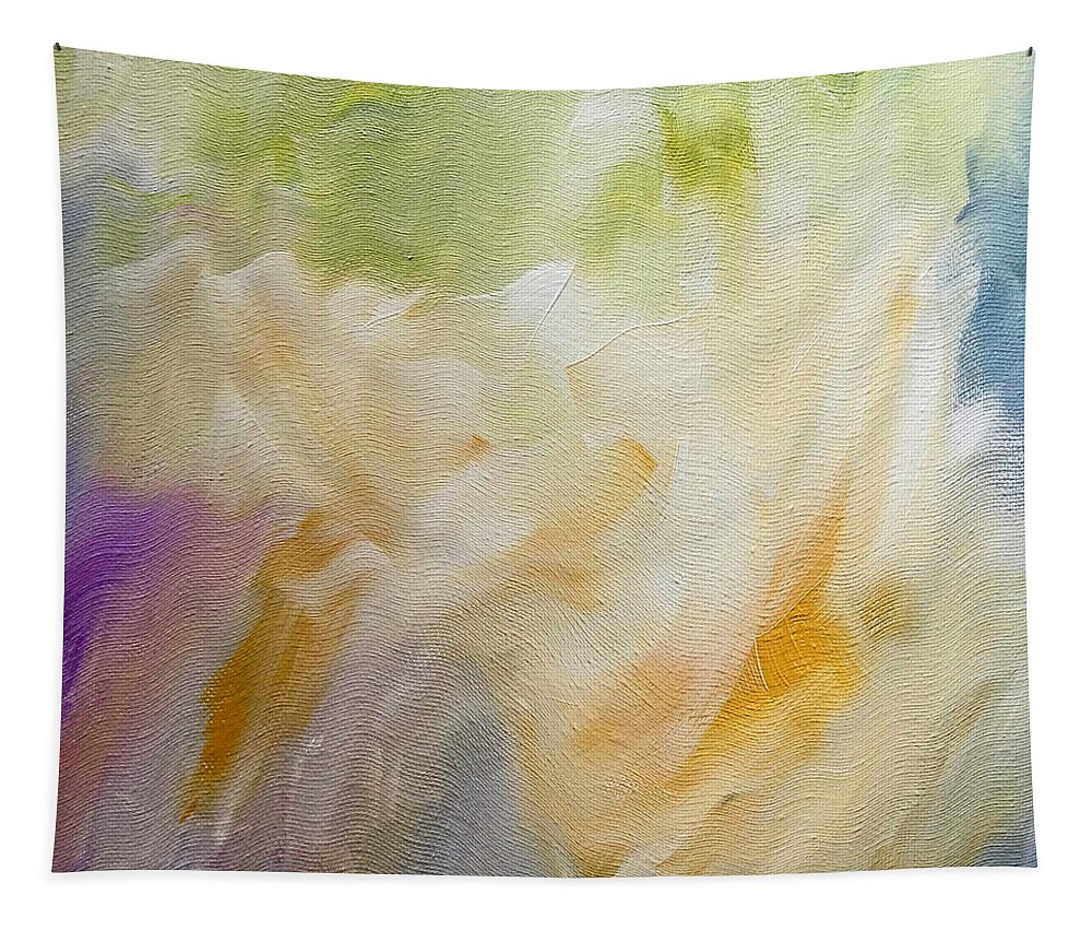 Abstract Tapestry featuring the digital art Gentle Breeze by Ruth Palmer