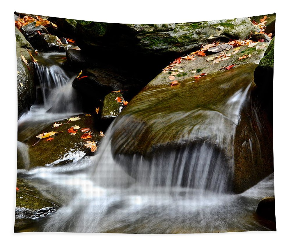 Waterfall Tapestry featuring the photograph Gentle Falls by Frozen in Time Fine Art Photography