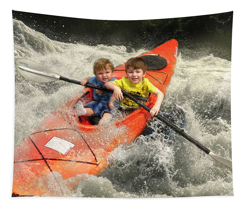 Children Tapestry featuring the photograph ......gently Down The Stream... by John Anderson