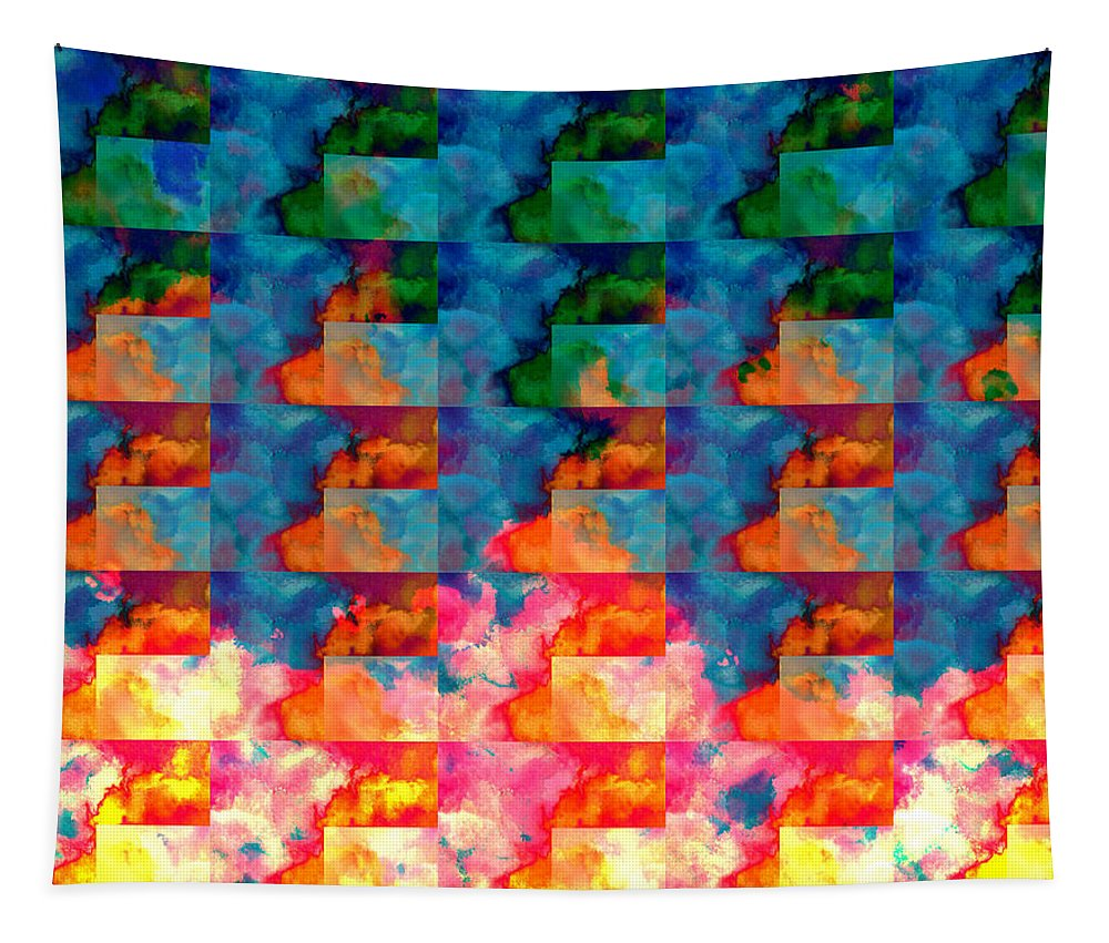 Clouds Tapestry featuring the digital art Geometric Cloud Cover by Phil Perkins