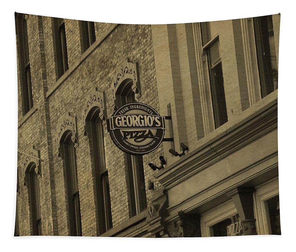 Georgio's Pizza Grand Rapids Michigan Tapestry featuring the photograph Georgio's Pizza Grand Rapids Michigan by Dan Sproul