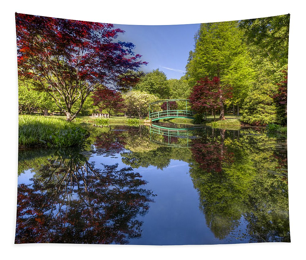 Appalachia Tapestry featuring the photograph Gibbs Garden by Debra and Dave Vanderlaan