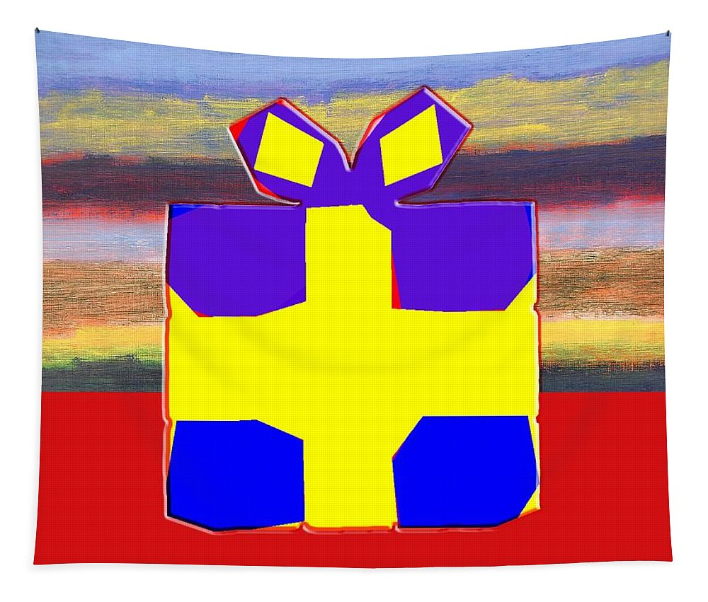 Birthday Tapestry featuring the painting Gift Wrapped by Patrick J Murphy