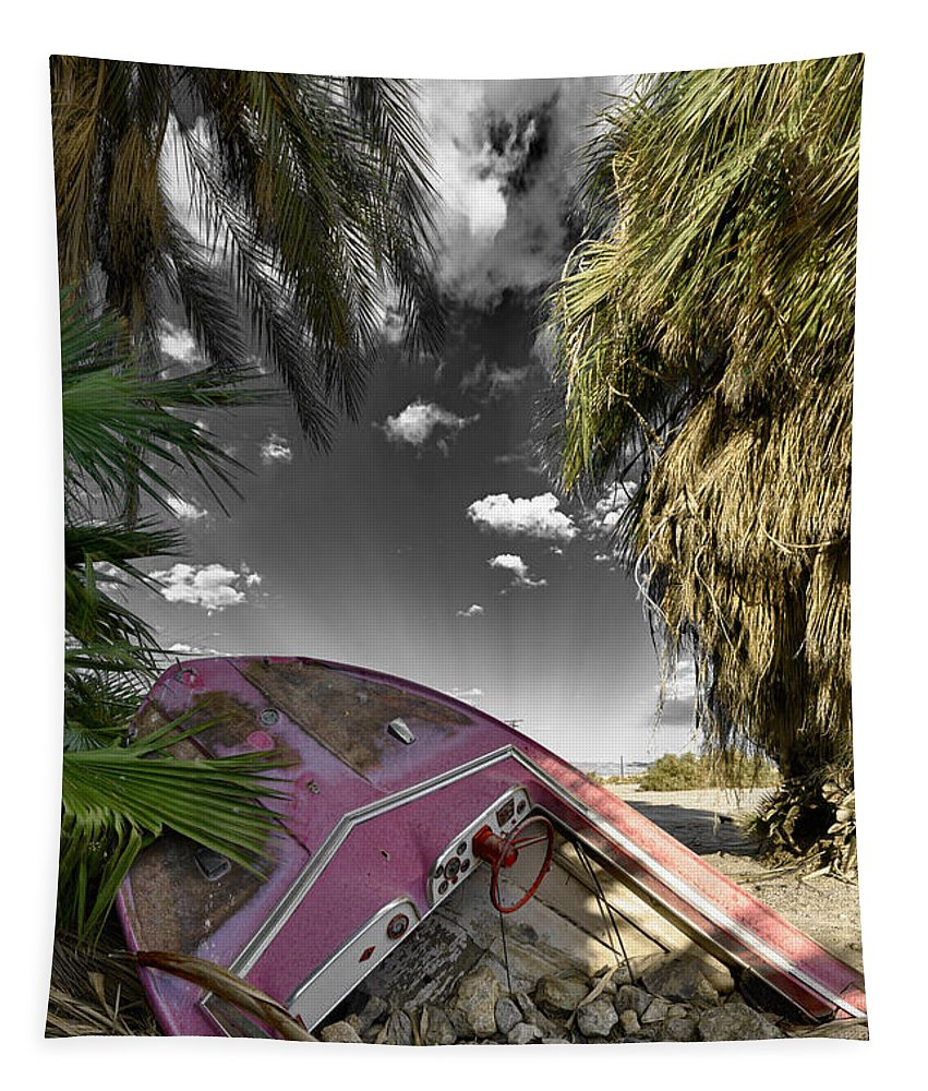 Boat Tapestry featuring the photograph Gilligans Island Black And White 1 by Scott Campbell
