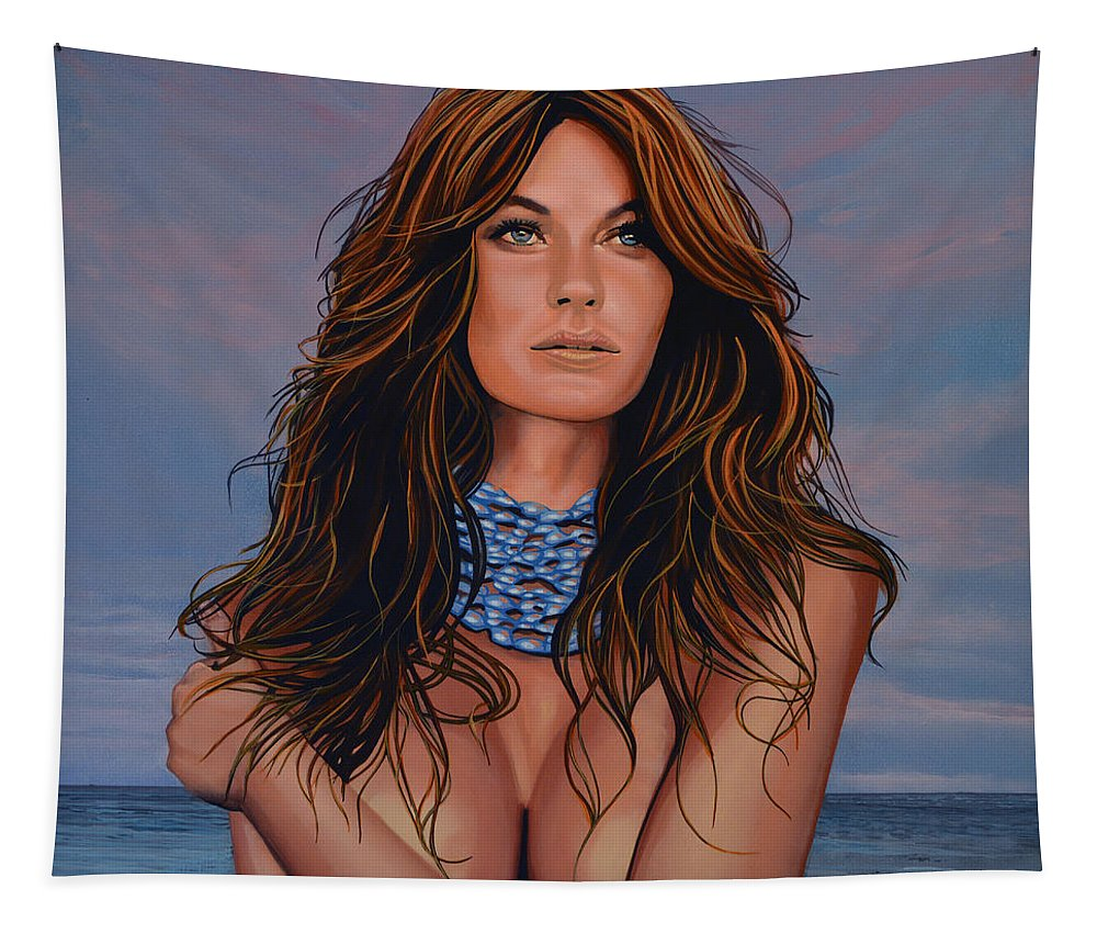 Gisele Bundchen Tapestry featuring the painting Gisele Bundchen Painting by Paul Meijering