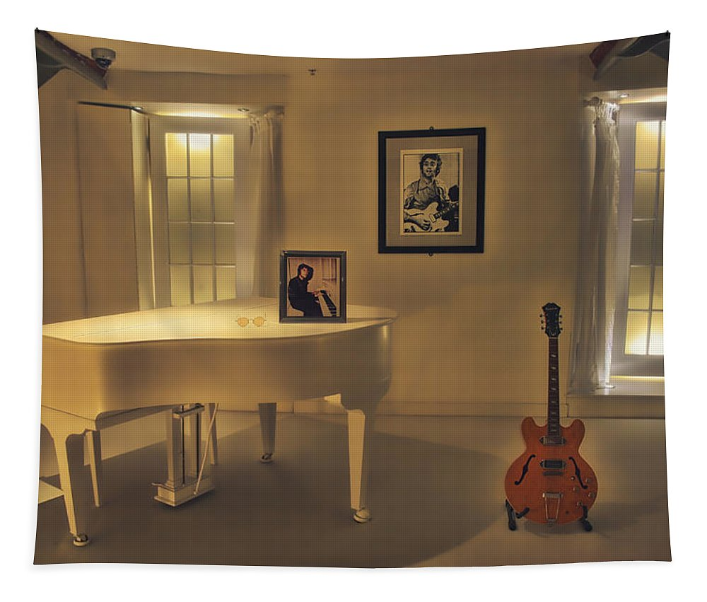 John Lennon Tapestry featuring the photograph Give Peace a Chance by Mountain Dreams