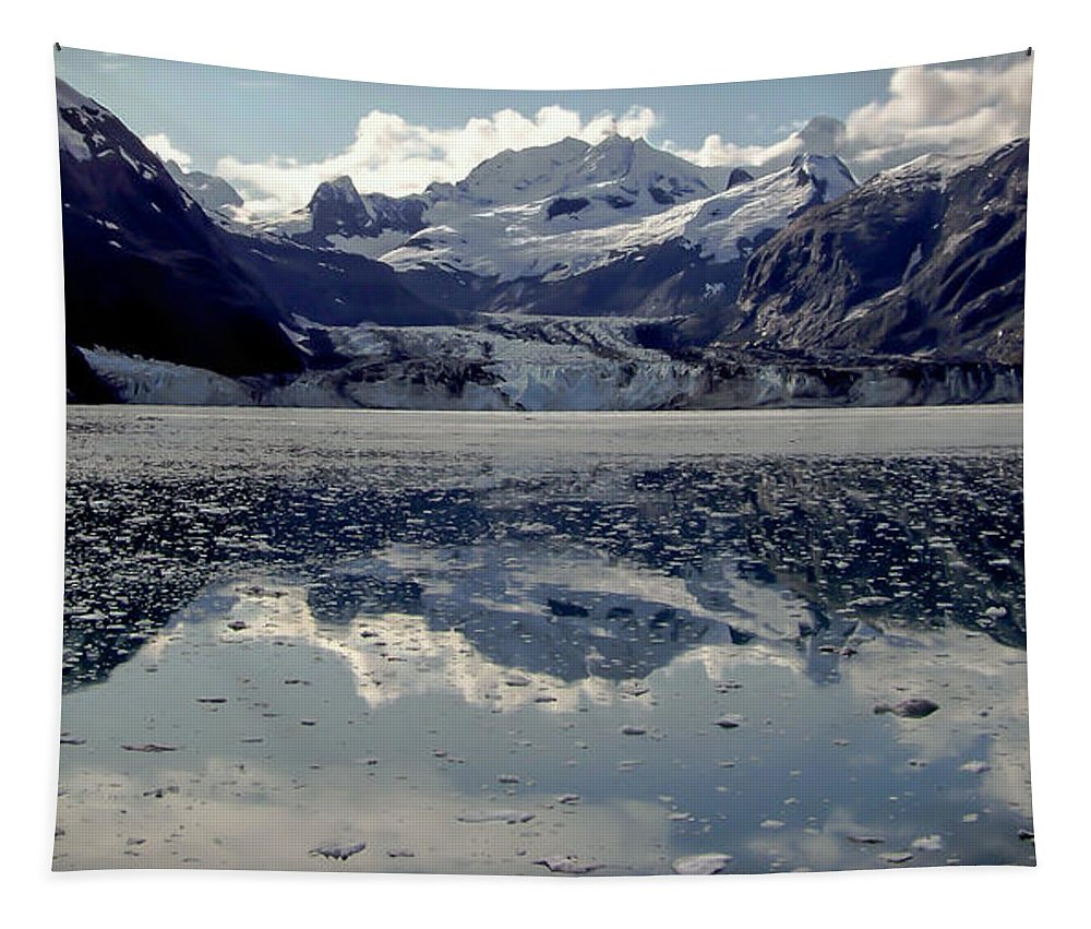 Glacier Bay Tapestry featuring the photograph Glacier Bay by Karen Wiles