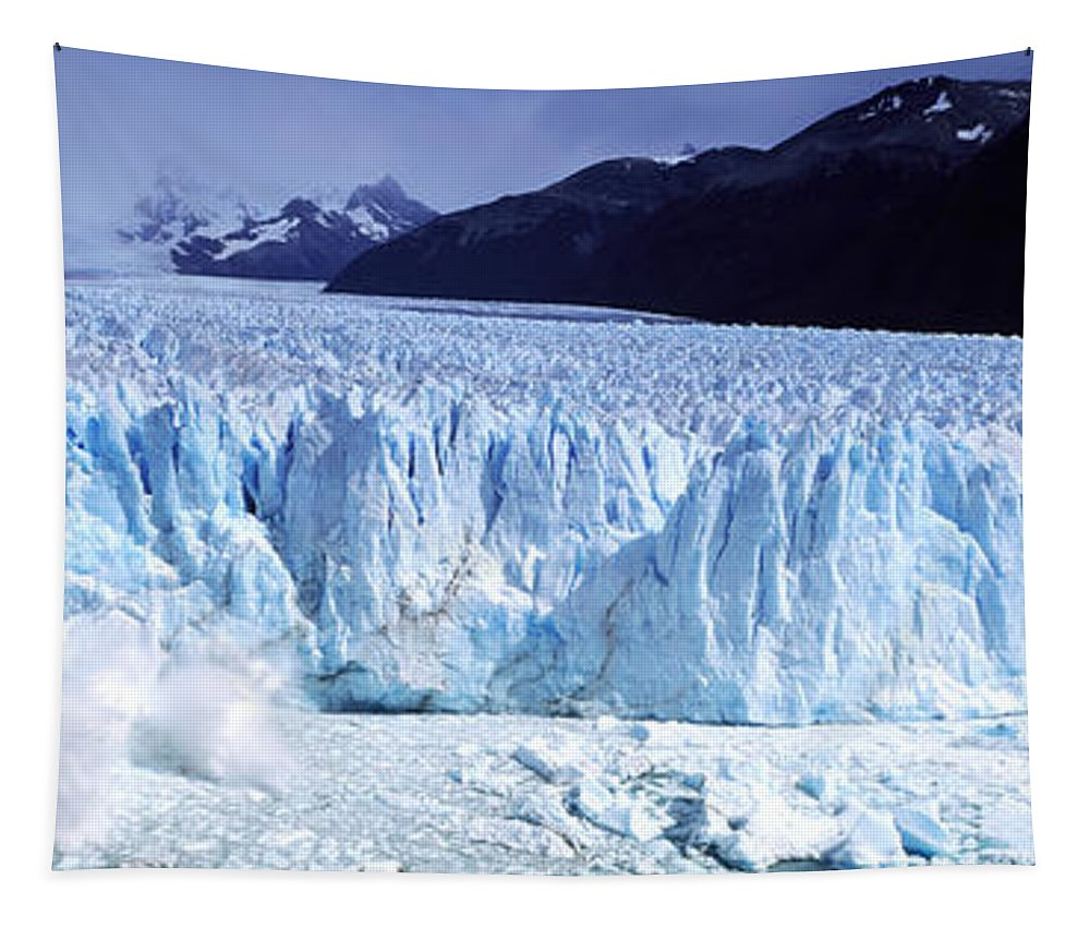 Photography Tapestry featuring the photograph Glacier, Moreno Glacier, Argentine by Panoramic Images