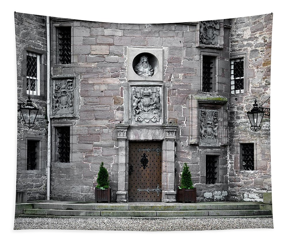 Glamis Tapestry featuring the photograph Glamis Castle. Doorway by RicardMN Photography