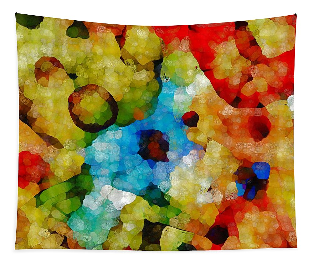 Glass Art Mosaic Tapestry featuring the painting Glass Art Abstract by Dan Sproul