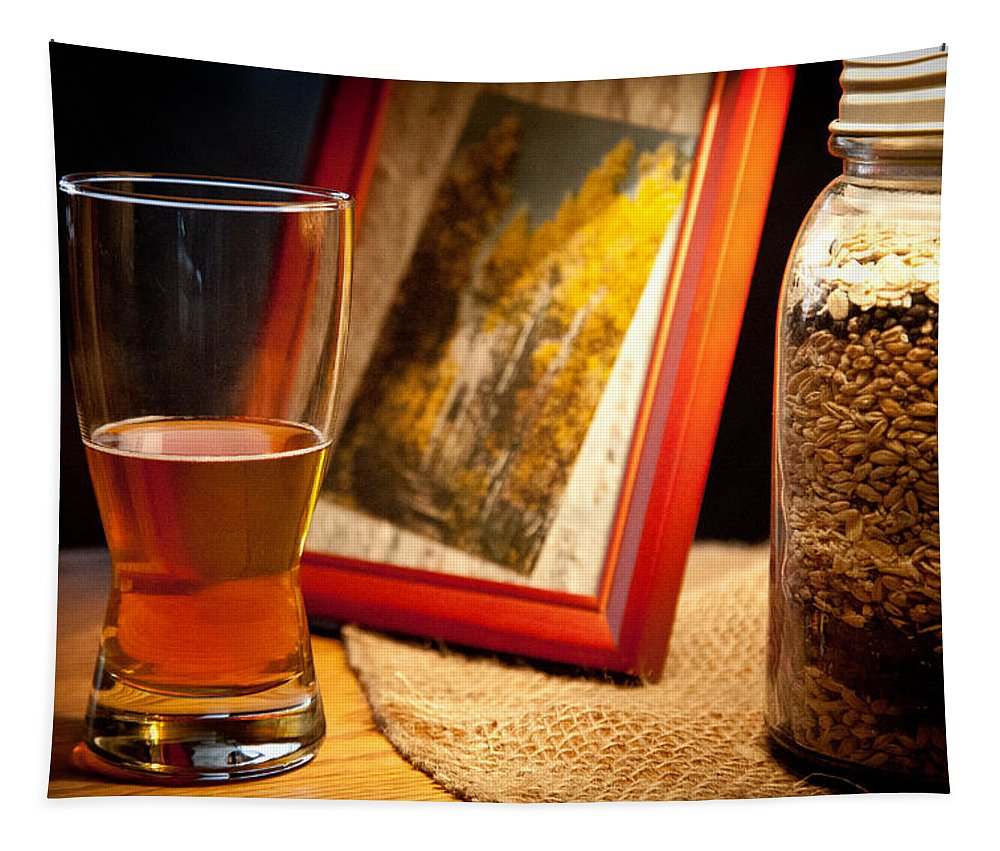 Beer Tapestry featuring the photograph Glass Half Full by David Patterson