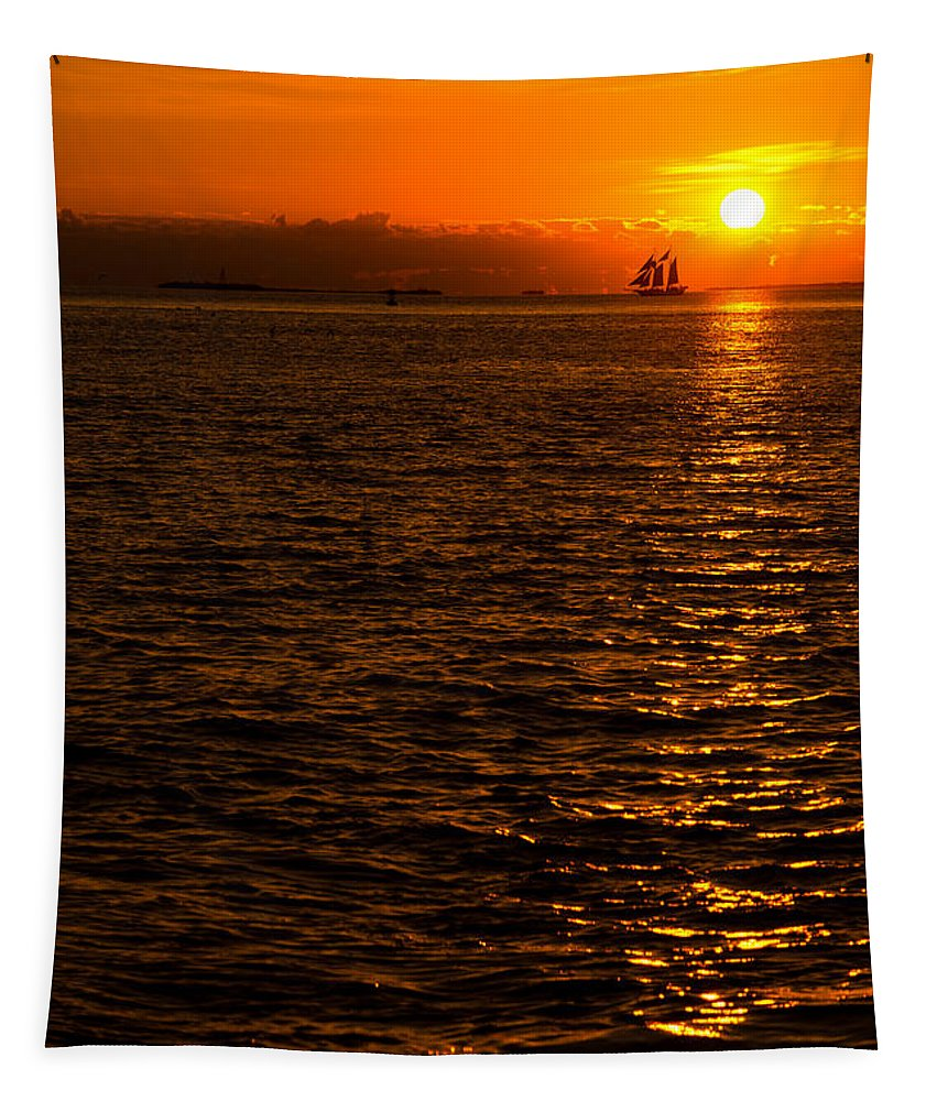Sunset Tapestry featuring the photograph Glimmer by Chad Dutson
