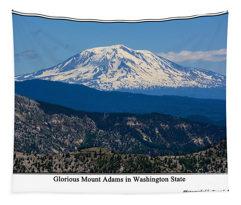 Mt.adams Tapestry featuring the photograph Glorious Mount Adams by Tikvah's Hope