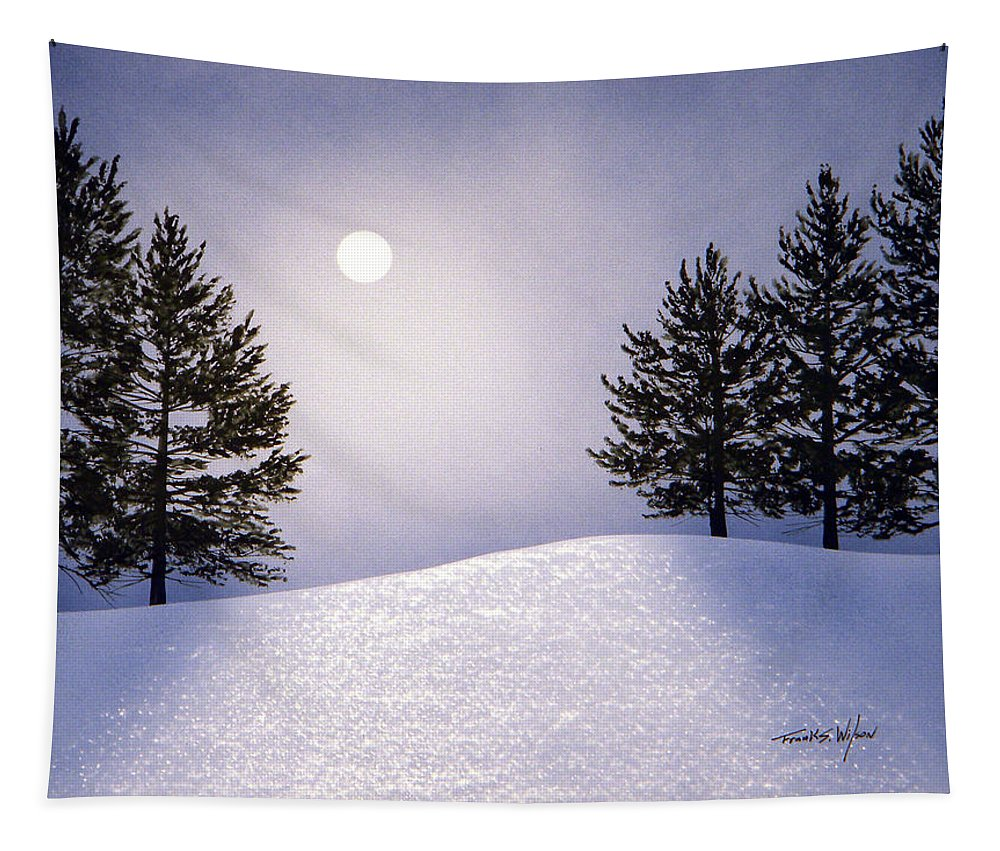 Mountains Tapestry featuring the painting Glorious Night by Frank Wilson