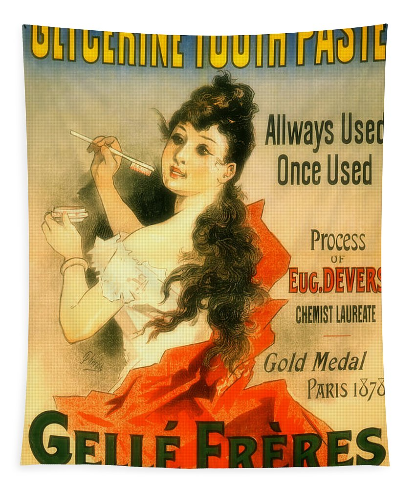 Glycerine Tapestry featuring the photograph Glycerine Toothpaste 1878 by Mountain Dreams