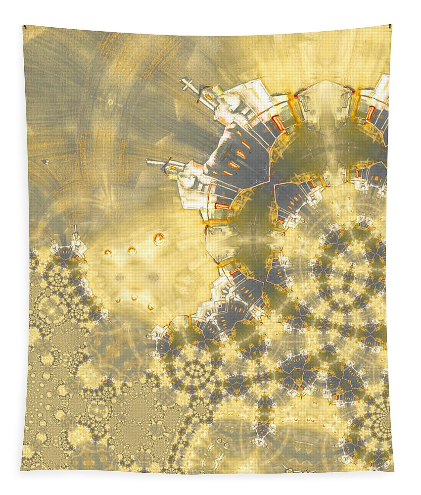 Fractal Tapestry featuring the painting God Is Everywhere by Miki De Goodaboom