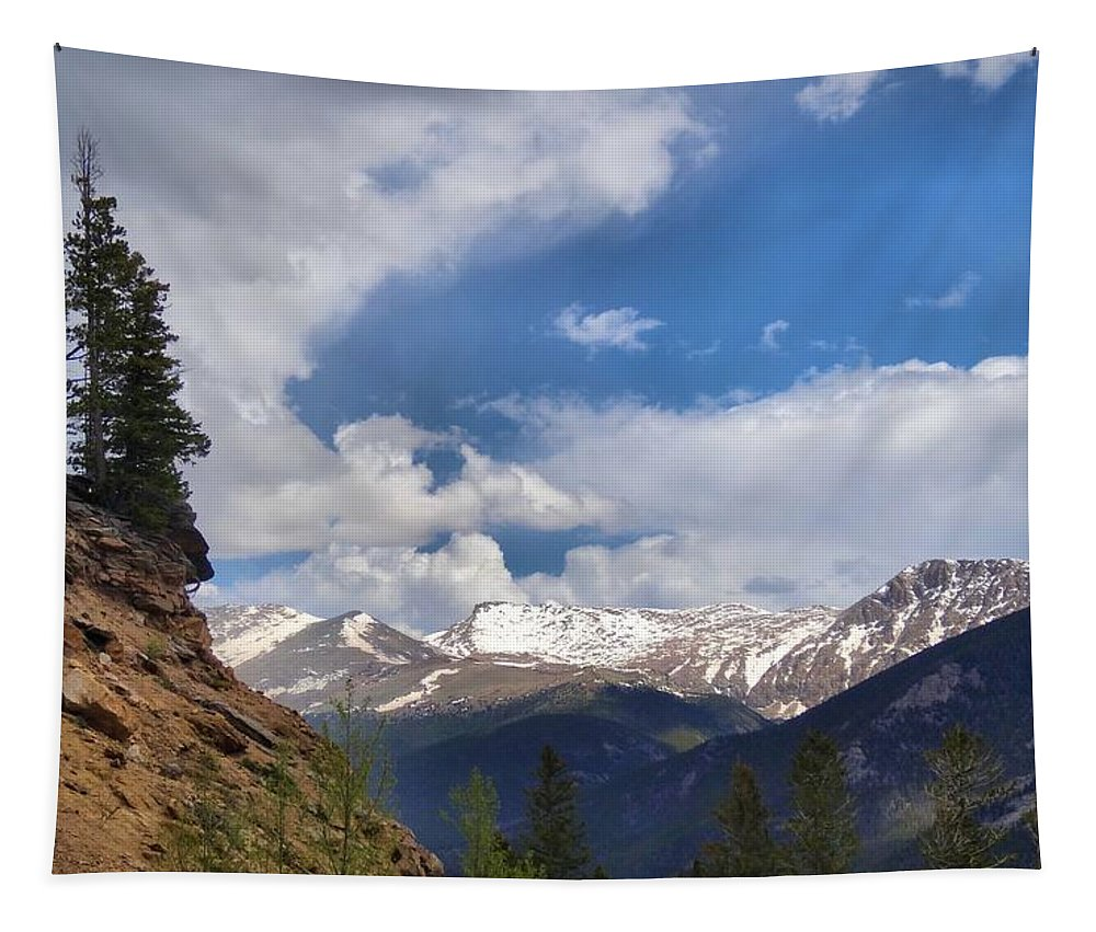 Rocky Mountain National Park Tapestry featuring the photograph God's Country by Dan Sproul