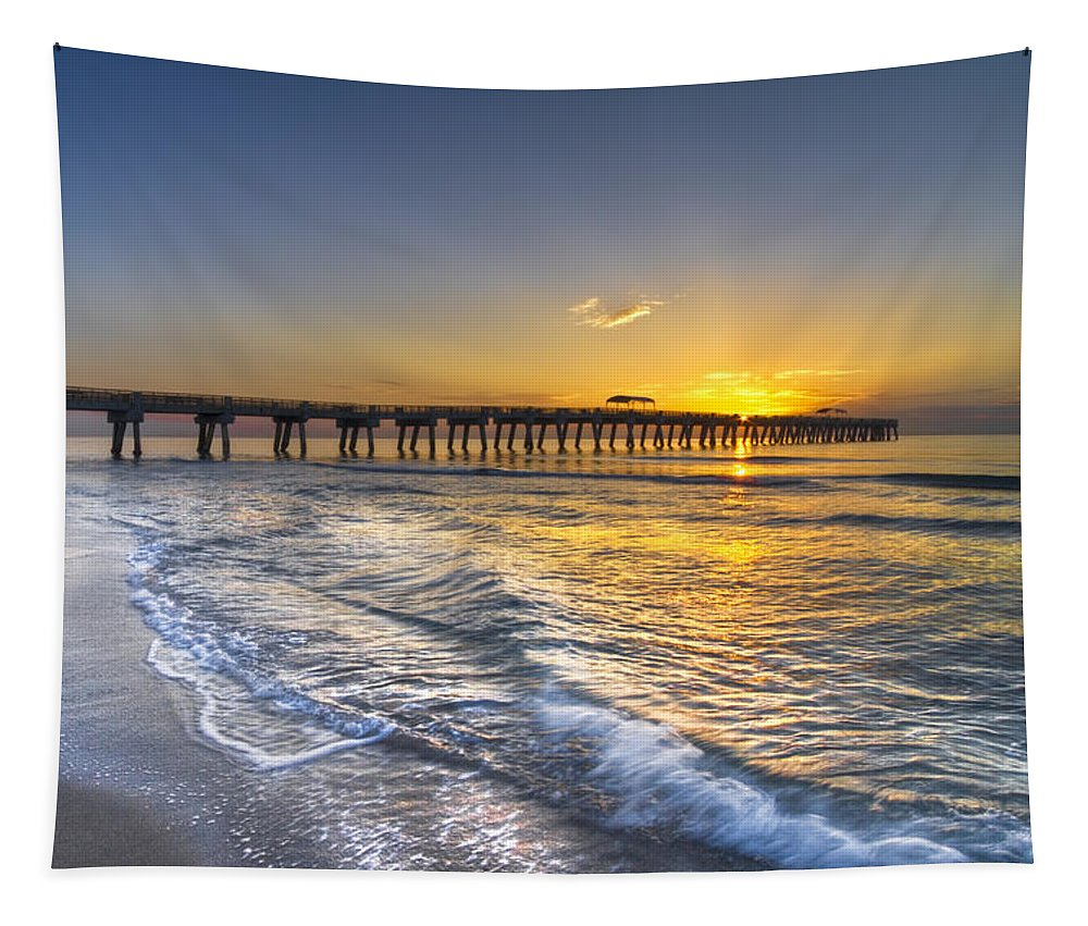 Clouds Tapestry featuring the photograph God's Glory by Debra and Dave Vanderlaan