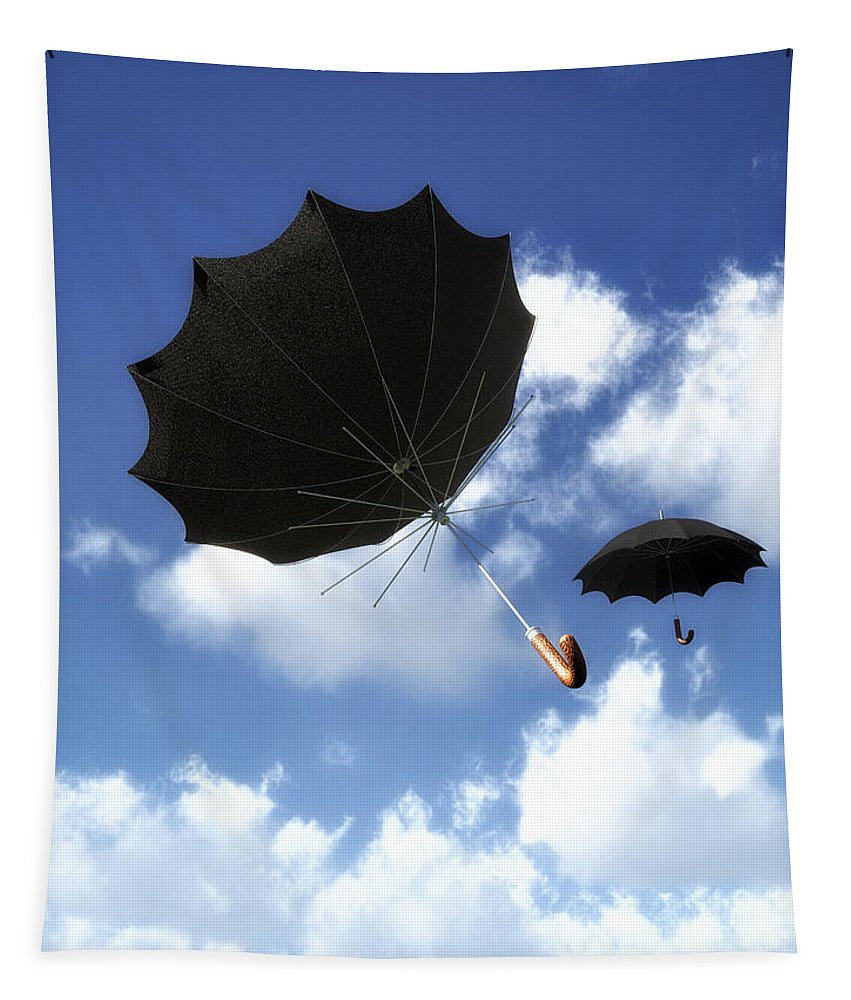 Umbrella Tapestry featuring the photograph Going Down Fast And Slow by Bob Orsillo