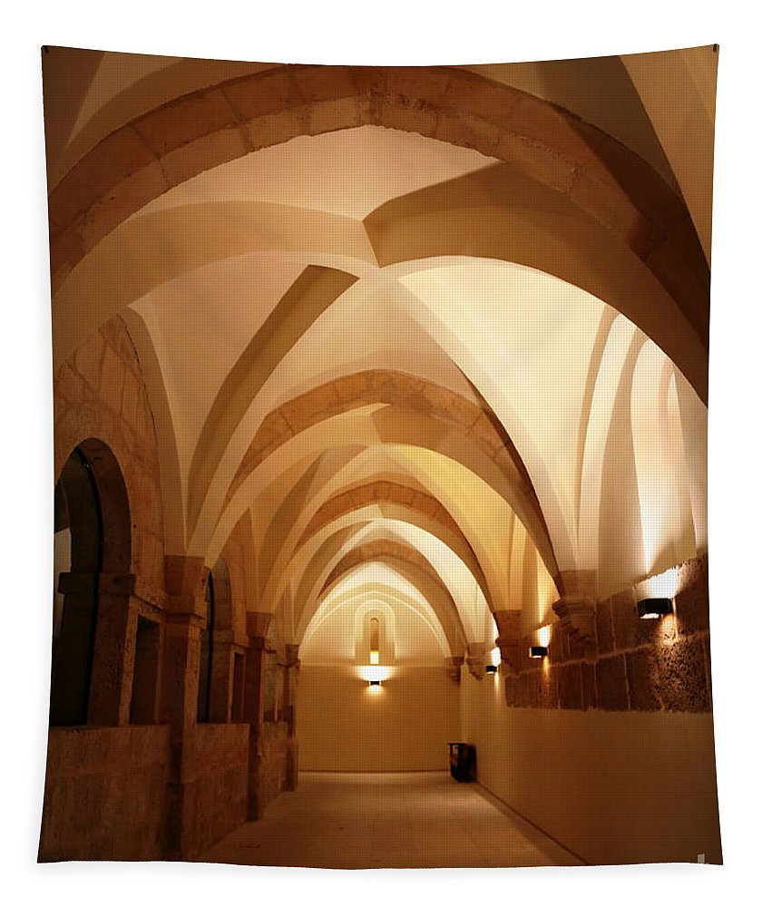 Arches Tapestry featuring the photograph Golden Aches by Carol Groenen