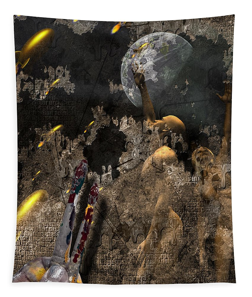 Art Tapestry featuring the digital art Golden Age Of Sci Fi by Bruce Rolff
