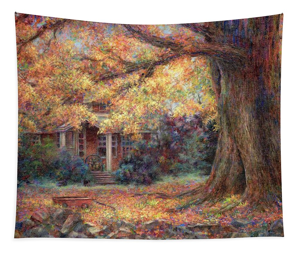 Autumn Tapestry featuring the painting Golden Autumn by Susan Savad