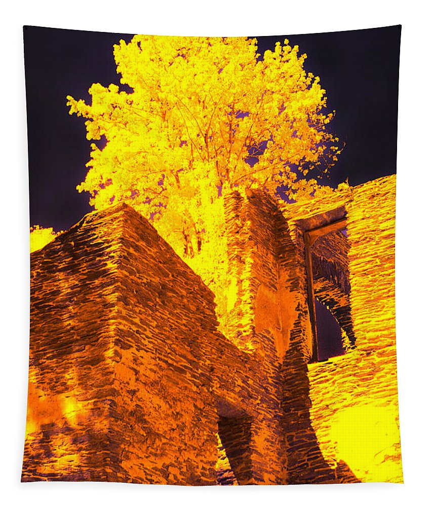 Harpers Ferry Tapestry featuring the photograph Golden Chapel by Paul W Faust - Impressions of Light