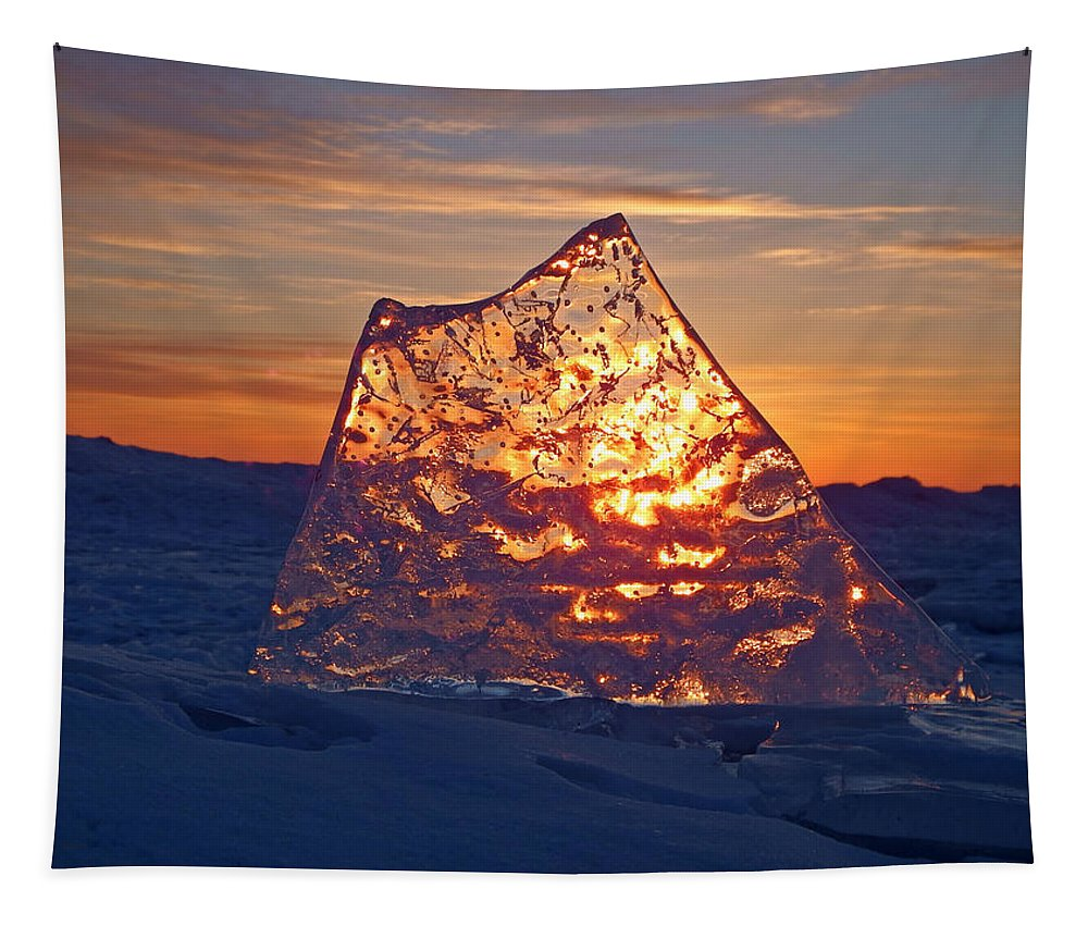 Ice Tapestry featuring the photograph Solid Gold by Alison Gimpel