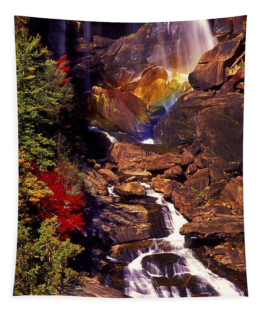 Water Tapestry featuring the photograph Golden Rainbow by Paul W Faust - Impressions of Light