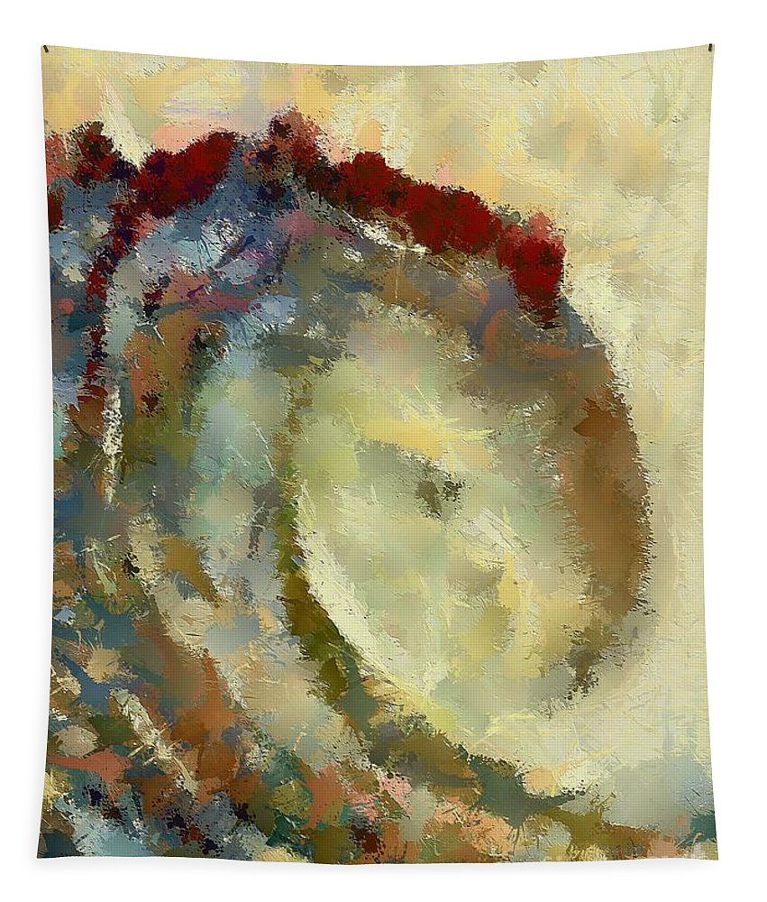 Landscape Tapestry featuring the digital art Golden Wave by Dragica Micki Fortuna