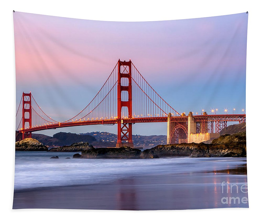 Golden Gate Bridge Tapestry featuring the photograph Golen Gate Bridge From Baker Beach by Jerry Fornarotto