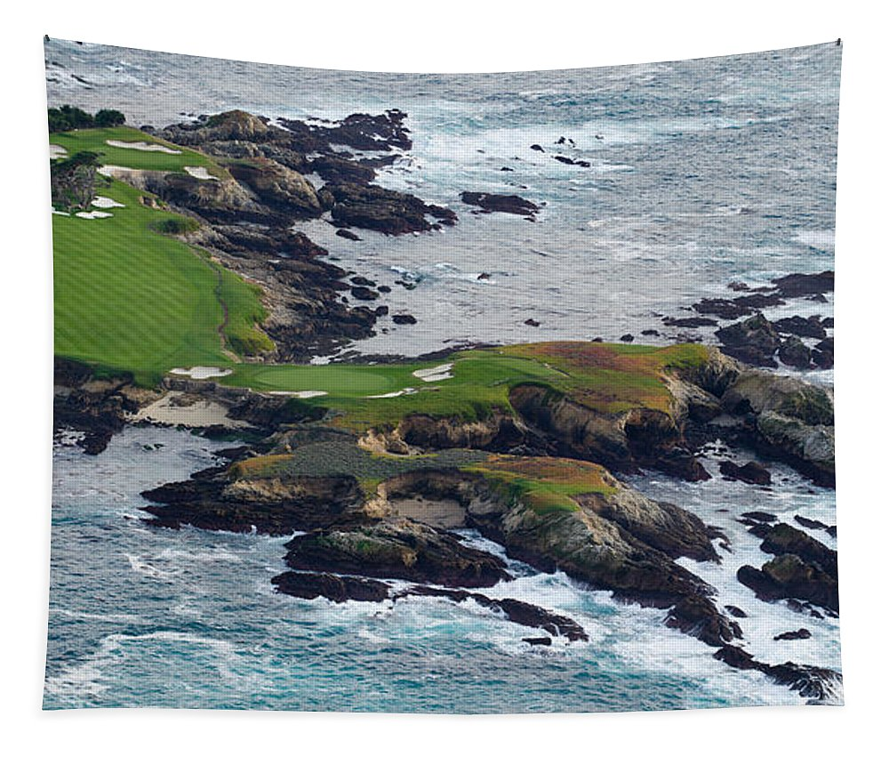 Photography Tapestry featuring the photograph Golf Course On An Island, Pebble Beach by Panoramic Images