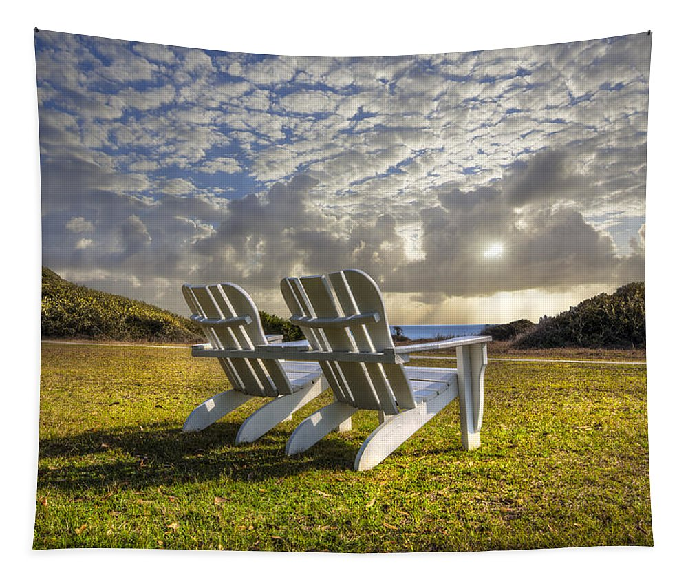 Clouds Tapestry featuring the photograph Good Morning by Debra and Dave Vanderlaan