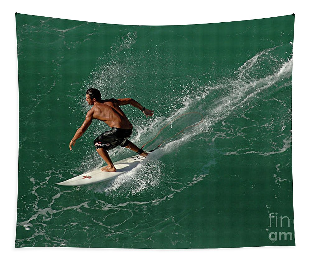 Hawaii Tapestry featuring the photograph Good Waves Good Body by Bob Christopher