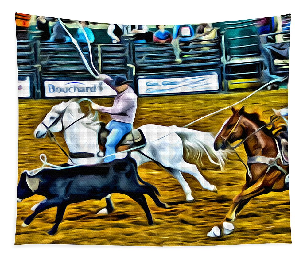 Ropers Tapestry featuring the photograph Gotcha Good by Alice Gipson