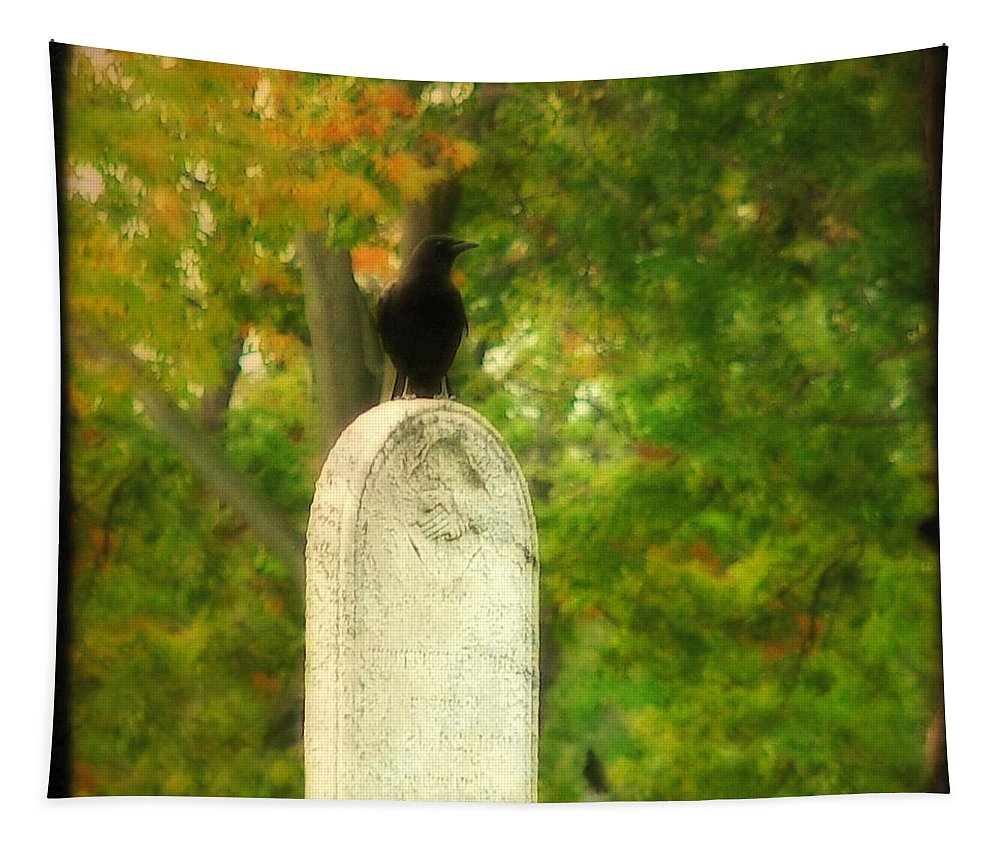 Crows In Fall Tapestry featuring the photograph Gothic Autumn by Gothicrow Images