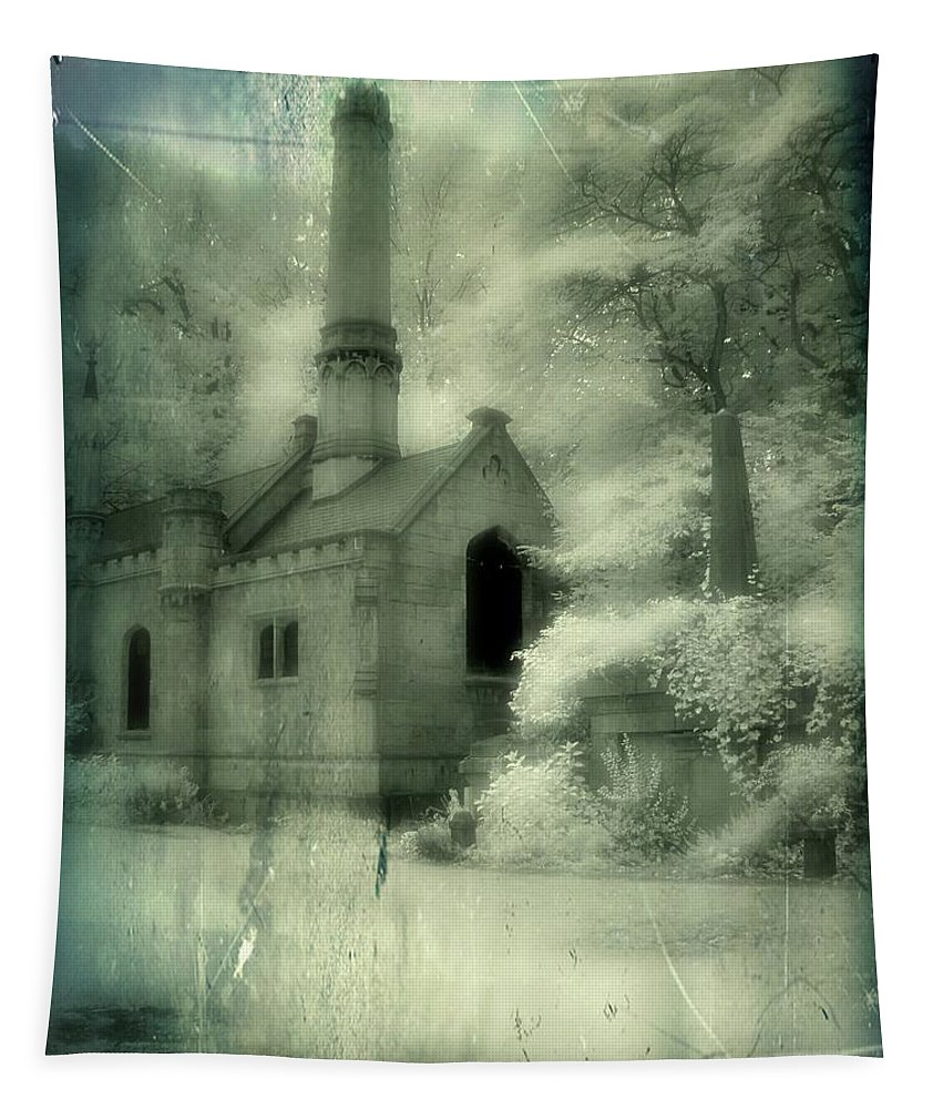 Infrared Tapestry featuring the photograph Gothic Splendor by Gothicrow Images