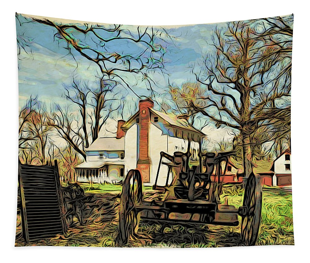 Graeme Park Tapestry featuring the photograph Graeme Park Farmhouse View by Alice Gipson