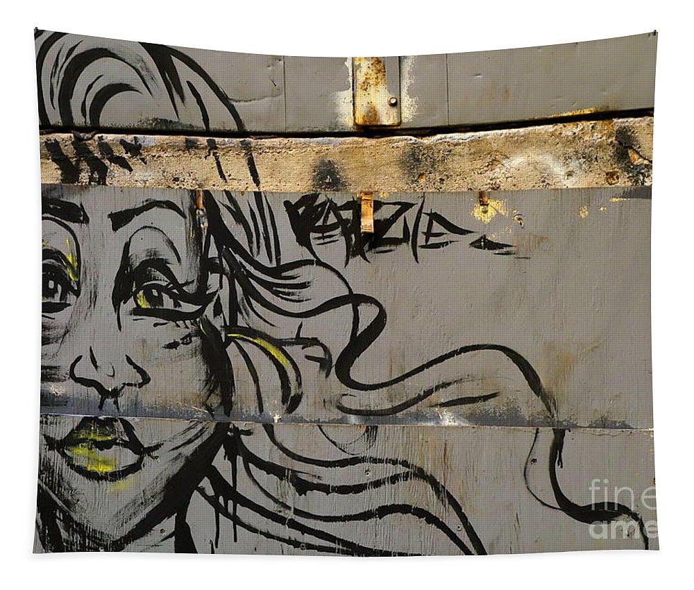 Graffitti Graffiti Tapestry featuring the photograph Graffiti Girl by Jacqueline Athmann