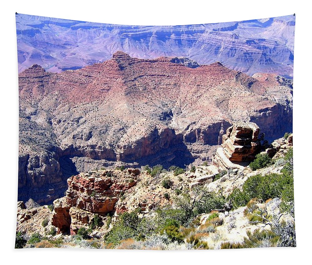 Grand Canyon 78 Tapestry featuring the photograph Grand Canyon 78 by Will Borden
