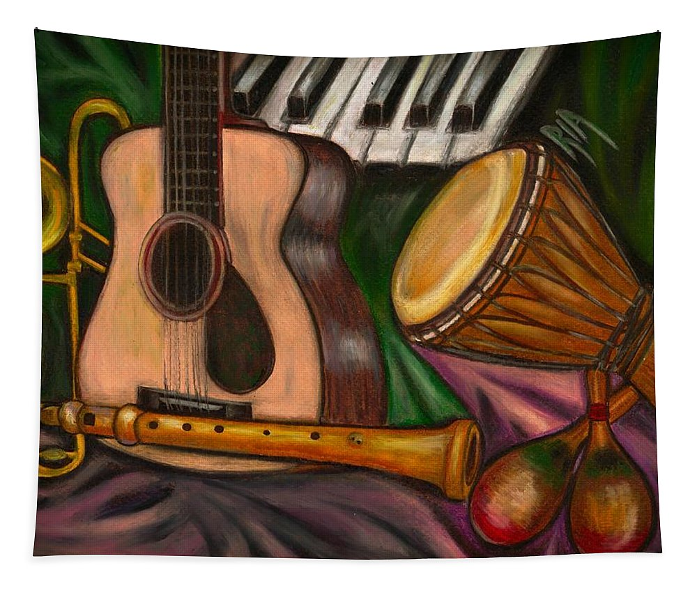 Music Tapestry featuring the photograph Grand POP by Artist RiA