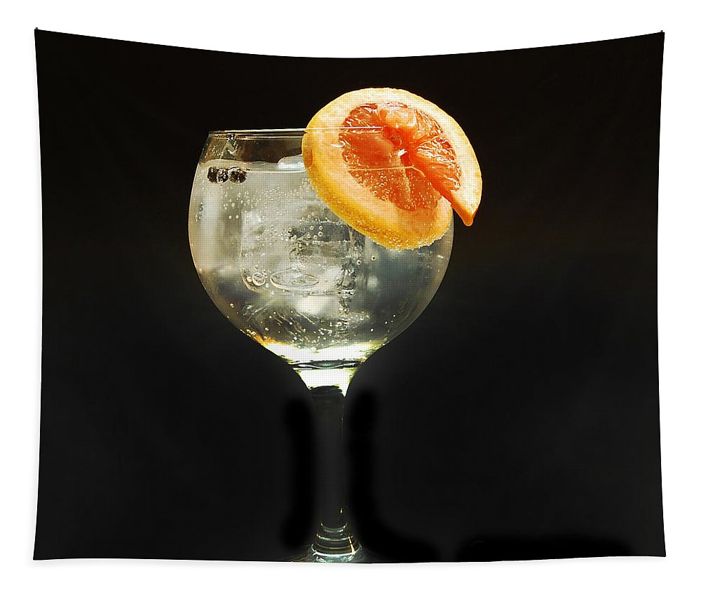 Gintonic Tapestry featuring the photograph Grapefruit Gin Tonic by Gina Dsgn