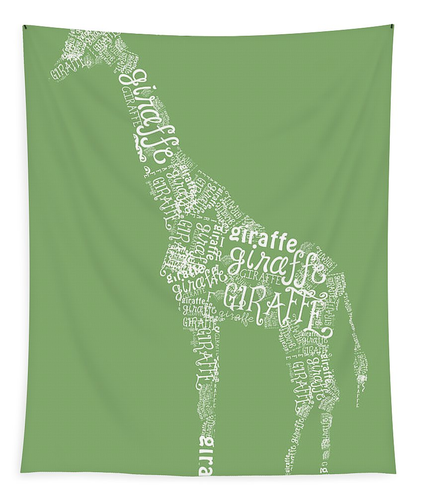 Graphic Tapestry featuring the digital art Graphic Giraffe by Heather Applegate