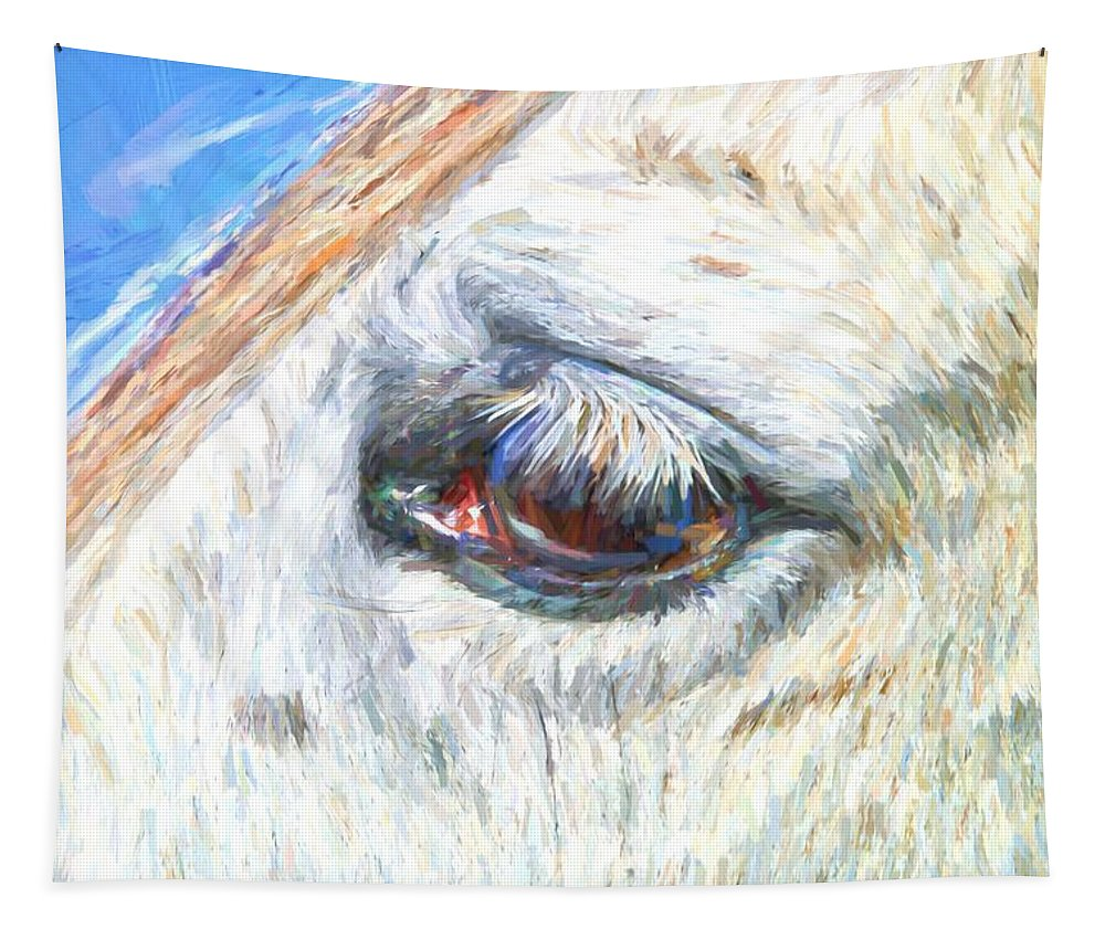 Gray Horse Tapestry featuring the photograph Grays Eye by Alice Gipson