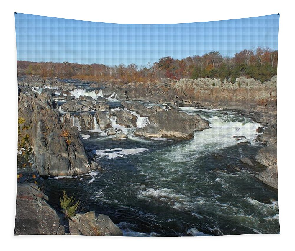 Great Falls Tapestry featuring the photograph Great Falls by Robert McCulloch