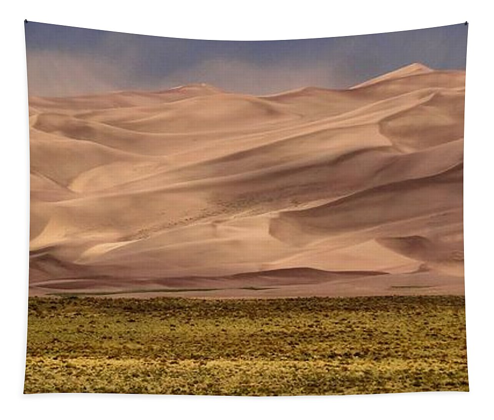 Great Sand Dunes In Colorado Tapestry featuring the photograph Great Sand Dunes In Colorado by Dan Sproul